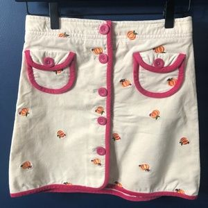 Girls 12 Lilly Pulitzer Pumpkin Corduroy Skirt